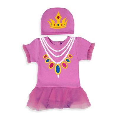 Sozo® Size 0-3M 2-Piece Princess Bodysuit and Cap Set in Purple