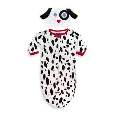 Sozo® Size 0-6M 2-Piece Dalmatian Bunting and Cap Set in White