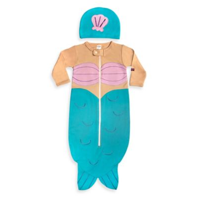 Sozo® Size 0-6M 2-Piece Mermaid Bunting and Cap Set in Blue