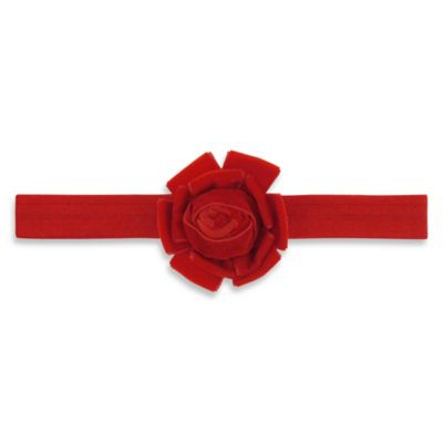 Capelli New York Infant Velvet Flower Headwrap in Red