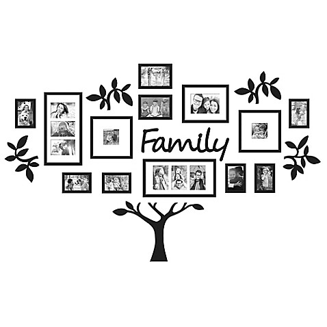Wallverbs 19 Piece Quot Family Quot Tree Set In Black Www