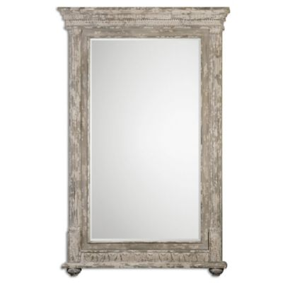 Uttermost Arenzano 60-Inch x 90-Inch Oversized Mirror in Antiqued Ivory