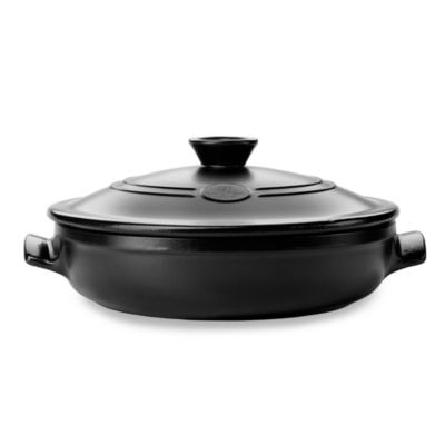 Emile Henry Flame Top 12-Inch Black Covered Braiser