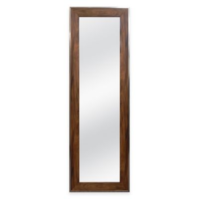 No Tools Over-the-Door Mirror in Walnut Woodgrain