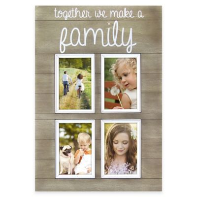 "Oracoke Sentiments 4-Photo ""Family"" Collage Frame in Grey"