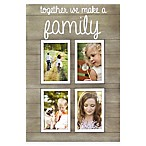 Oracoke Sentiments 4-Photo  Family  Collage Frame in Grey