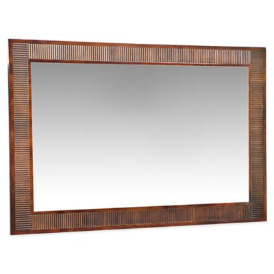 angelo:HOME Marlowe 36-Inch x 54-Inch Rectangular Wood Wall Mirror in Chocolate
