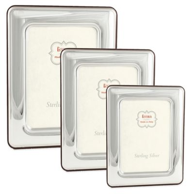 Eccolo™ 8-Inch x 10-Inch Wide Round Corners Picture Frame in Sterling Silver