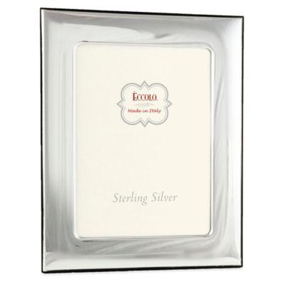 Eccolo™ 5-Inch x 7-Inch Wide Square Corners Picture Frame in Sterling Silver