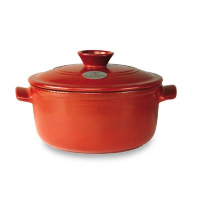 Emile Henry Flame Top 2.6-Quart Red Covered Round Casserole