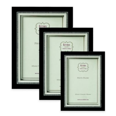 Eccolo™ Black Tie 4-Inch x 6-Inch Marquetry Picture Frame