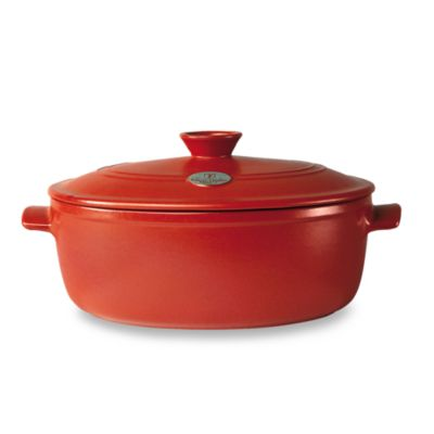 Emile Henry Flame® Top 6.3-Quart Covered Casserole in Red