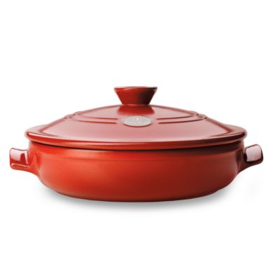 Emile Henry Flame Top 12-Inch Red Covered Braiser