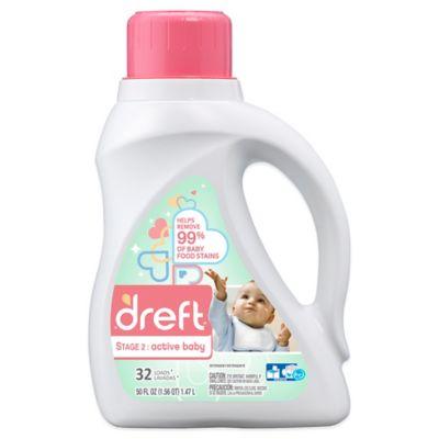 Dreft Stage 2: Active Baby 50 oz. HEC Liquid Detergent