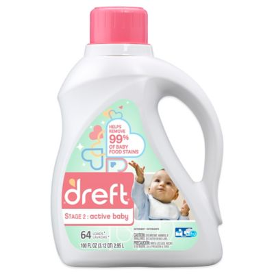 Dreft Stage 2: Active Baby 50 oz. HEC Liquid Detergent