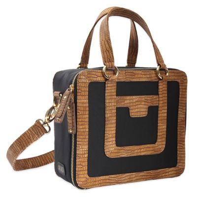 Evie Bett Vivien Insulated Cooler/Lunch Bag in Black/Camel