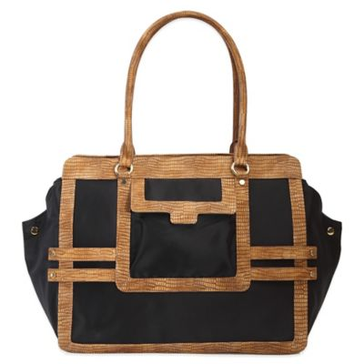 Evie Bett Vivien Diaper Bag in Black/Camel