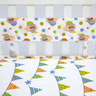 Disney® Dumbo Secure-Me Mesh Crib Liner