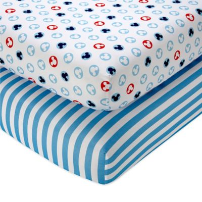 Disney® Mickey Mouse Fitted Crib Sheets (Set of 2)