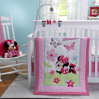 Disney® Minnie's Garden 3-Piece Crib Bedding Set
