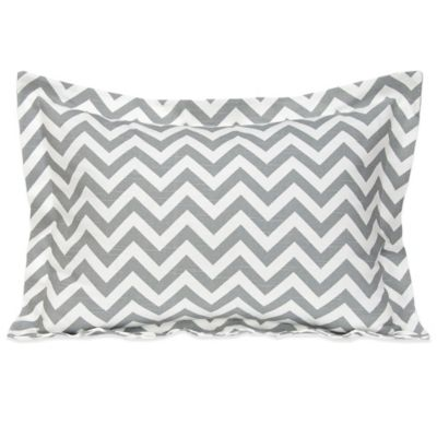 Glenna Jean Swizzle Large Pillow Sham in Grey/White