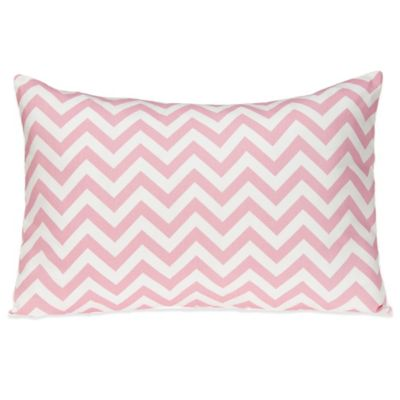 Glenna Jean Swizzle Small Pillow Sham in Pink/White