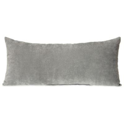 Glenna Jean Swizzle Velvet Bolster in Grey