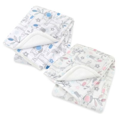 Just Born® Woodland Plush Blanket in Blue