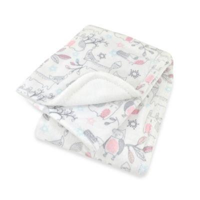 Just Born® Woodland Plush Blanket in Blush