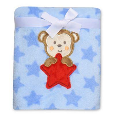 Gifts under $25 > Baby Starters® Monkey Star Plush Blanket in Blue