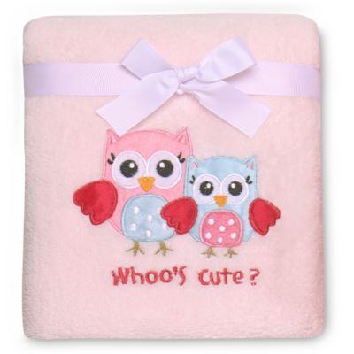 """Baby Starters® """"Whoo's Cute?"""" Owl Blanket"""