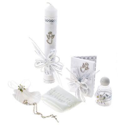 6-Piece Silver Angel Baptism/Christening Gift Set
