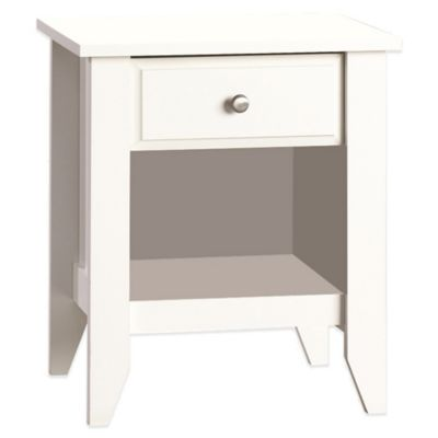 Child Craft™ Relaxed Traditional Nightstand in White