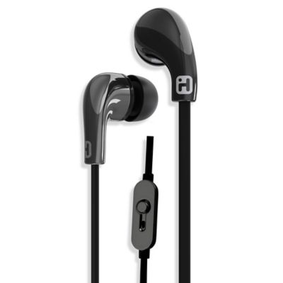 iHome® iB26 Noise Isolating Earphones with In-Line Mic & Remote in Black