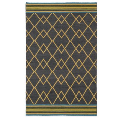 Kaleen Nomad Diamond 5-Foot x 8-Foot Rug in Charcoal