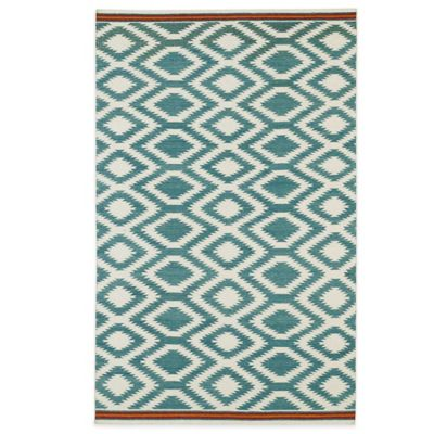 Kaleen Nomad Zig-Zag 2-Foot x 3-Foot Rug in Black