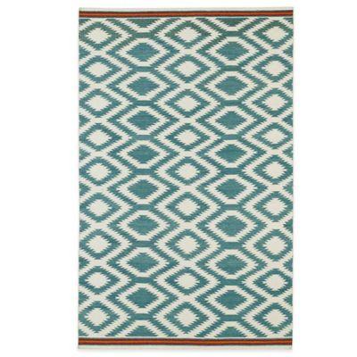 Kaleen Nomad Zig-Zag 8-Foot x 10-Foot Rug in Turquoise