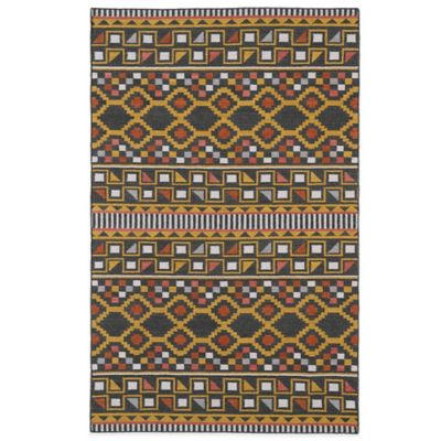 Kaleen Nomad Geo 5-Foot x 8-Foot Rug in Charcoal