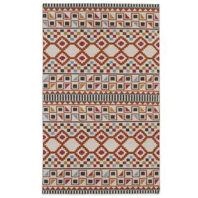 Geo 2-Foot x 3-Foot Rug in Blue