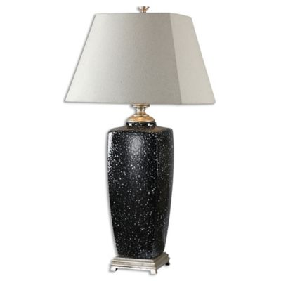 Uttermost Barzana Gloss Table Lamp in Black