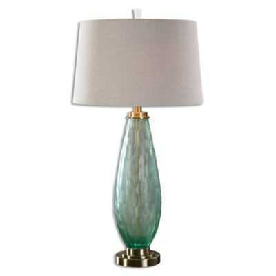 Uttermost Lenado Table Lamp in Sea Green with Linen Shade