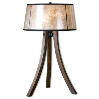 Black Wood Table Lamp