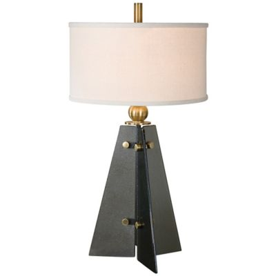Uttermost Everly Table Lamp in Smoke with Linen Shade