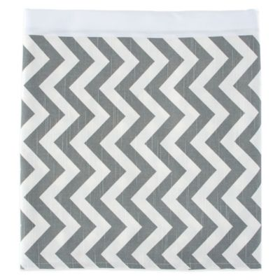 Glenna Jean Swizzle Twin Bed Skirt in Grey/White