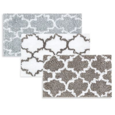 Loloi Rugs Grand Luxe 21-Inch x 34-Inch Bath Mat in Grey/White