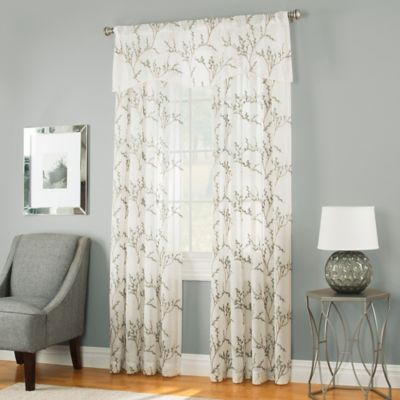 Caprea Sheer 63-Inch Rod Pocket Window Curtain Panel in White