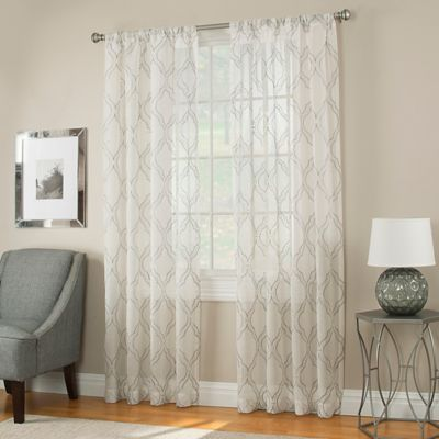 Ogee 63-Inch Sheer Window Panel in White