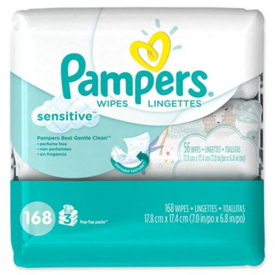Diapering Essentials > Pampers® 168-Count Sensitive Baby Wipes 3x Travel Pack