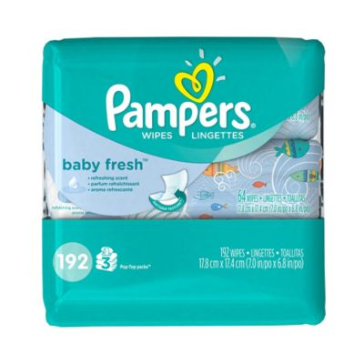 Diapering Essentials > Pampers® 192-Count Baby Wipes 3x Travel Pack in Baby Fresh