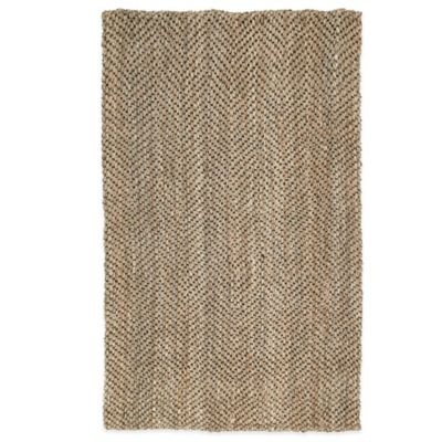 Kaleen Essentials Herringbone 5-Foot x 8-Foot Rug in Natural
